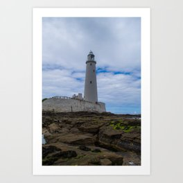 Whitley Bay St Mary's Lighthouse Art Print