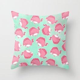 Pink Unicorn LTK pattern Throw Pillow
