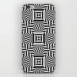 Op art trippy pattern iPhone Skin