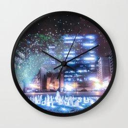 City smoke Wall Clock