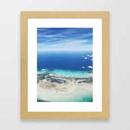 AERIAL VIEW OF THE CARIBBEAN Framed Art Print