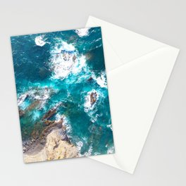 Ocean, deep blue, drone photography, aerial Stationery Cards