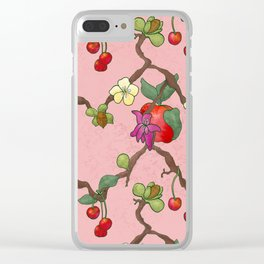 Cherries and Vine Clear iPhone Case