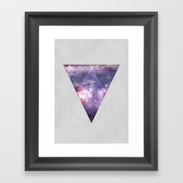 Space Tri Framed Art Print