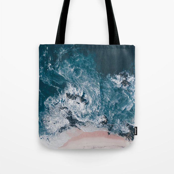 I love the sea - written on the beach Tote Bag