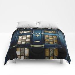 Tardis Sherlock Holmes 221B Comforters