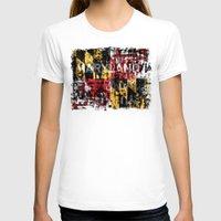 maryland T-shirts featuring Maryland Flag Print by david zobel