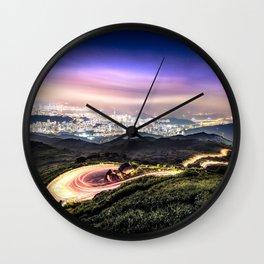 Hong Kong urban and nature nightscape Wall Clock