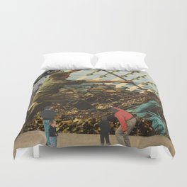 Marriage of Nationalist Security & Capitalist Democracy Duvet Cover