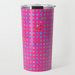 Neon Party Shapes: Abstract Design Travel Mug