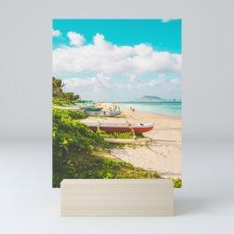 Lanikai Beach Mini Art Print
