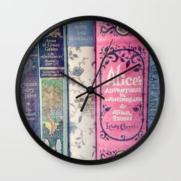 A Perfect Library photo Wall Clock