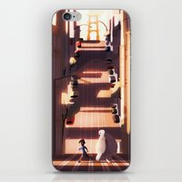 street iPhone & iPod Skins featuring street by shoua yang