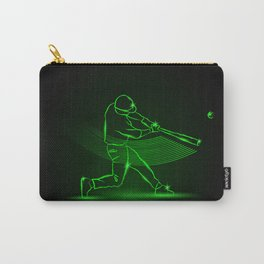 Baseball pitcher throws ball. neon style Carry-All Pouch