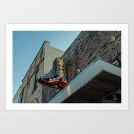 Boot Shop Neon Sign Art Print