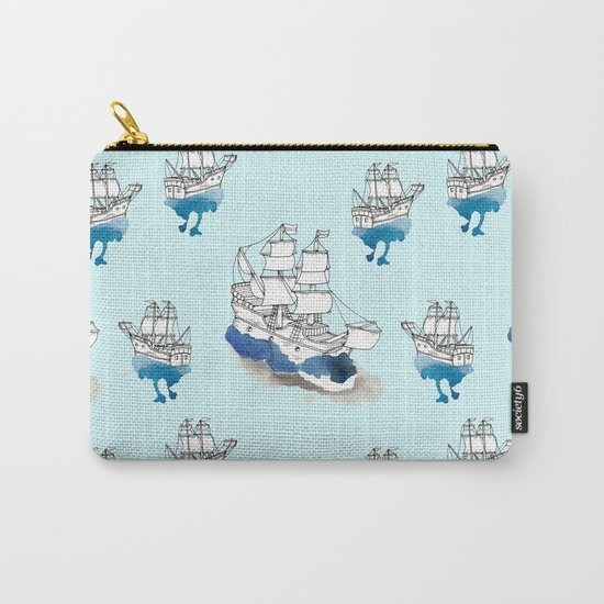 Ships Pattern Carry-All Pouch