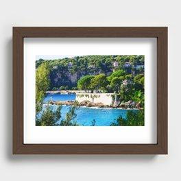 Summer Living In Cap Ferrat Recessed Framed Print