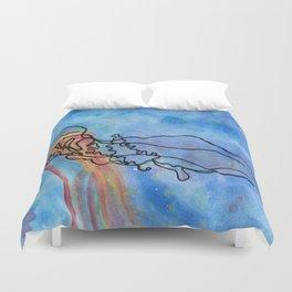 Jellyfish meet Jellyfish Duvet Cover