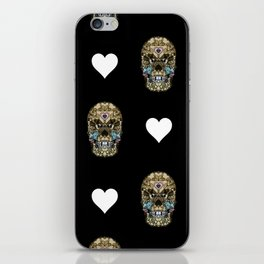 Say It with Skull and Hearts iPhone Skin