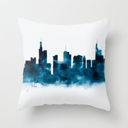 Frankfurt Skyline Throw Pillow