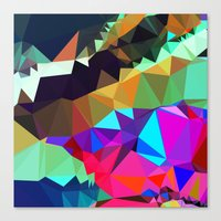 bands Canvas Prints featuring harlequin bands by Tulipe Studio