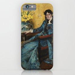 "William Merritt Chase ""Portrait of Dora Wheeler"" iPhone Case"