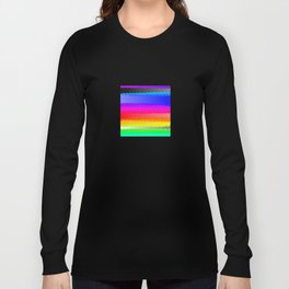 Rainbow and white S28 Long Sleeve T-shirt