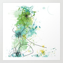 Green Botanica Art Print