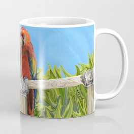 Scarlet Macaw Parrots Perching Coffee Mug