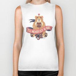 Ill Never Let You Go Bear Love Cat Biker Tank