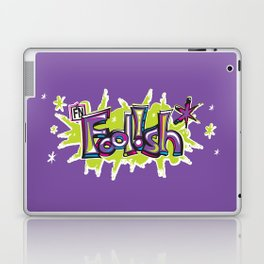 FN Foolish Graffiti Art purple Laptop & iPad Skin