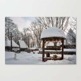 Pastoral winter scene Canvas Print
