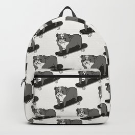 Skateboarding English Bulldog Backpack