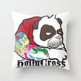 Cranky Panda Throw Pillow