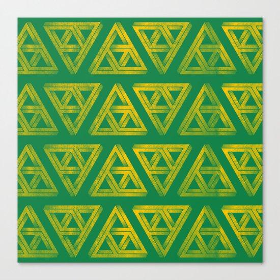 Penrose Triforce Pattern Canvas Print