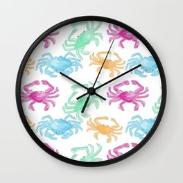 Colorful Crabs Wall Clock