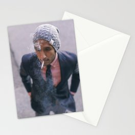 Man Smoking in Georgetown Stationery Cards