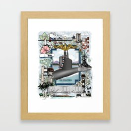 USS Columbia - Pearl Harbor Submarine Service (Gold Dolphins) Framed Art Print