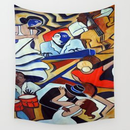 The Blue Piano Wall Tapestry
