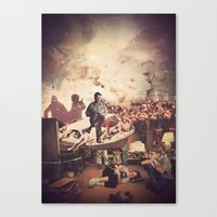 tv Canvas Prints featuring 'Television' by Tim Green
