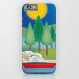Lake Tahoe - Skyline Illustration by Loose Petals iPhone Case