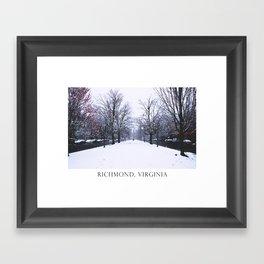 Monument Avenue Framed Art Print