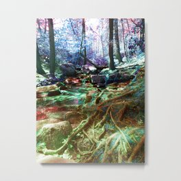 Psychedelic Forest Metal Print
