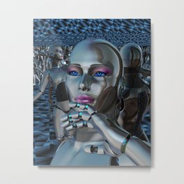 Robotic Chaos Metal Print