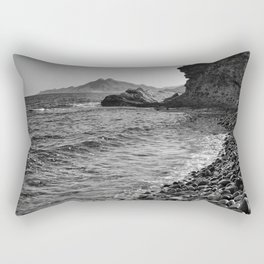 Carnaje Beach. Bw Rectangular Pillow