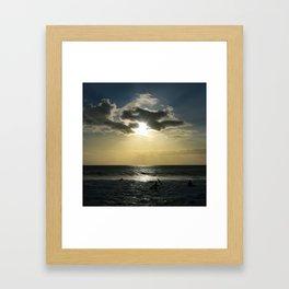 E ala mai o loko i ke kuhohonu o ke Aloha Kamaole Beach Framed Art Print