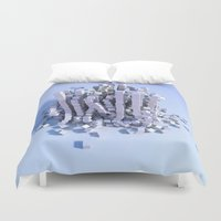 physics Duvet Covers featuring Cube physics  by Adoryanti