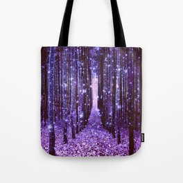 Magical Forest Purple Tote Bag