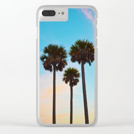 Palm Tree Silhouettes Clear iPhone Case