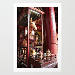 horse and offerings Art Print